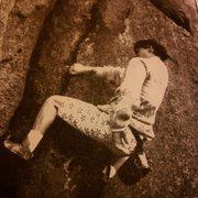 Rock Climbing Photo: Brad McConnell on No Way Out V3, Elephant Rocks S....