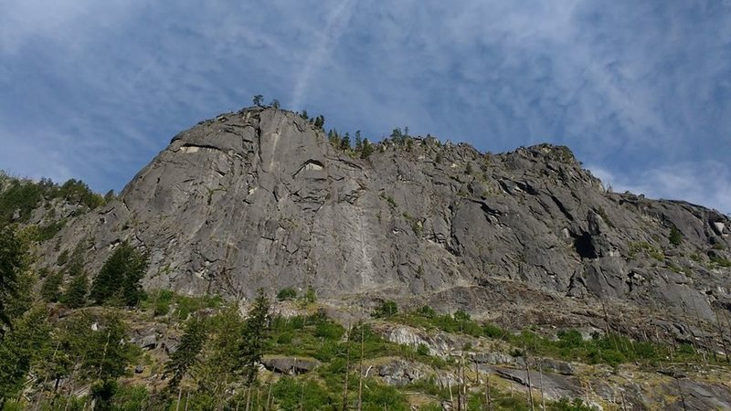 Rock Climbing Photo: As seen in its totality from halfway up the approa...