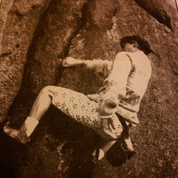 Brad climbing No Way Out, spotted by Marcus Floyd during the 80&@POUND@39@SEMICOLON@s