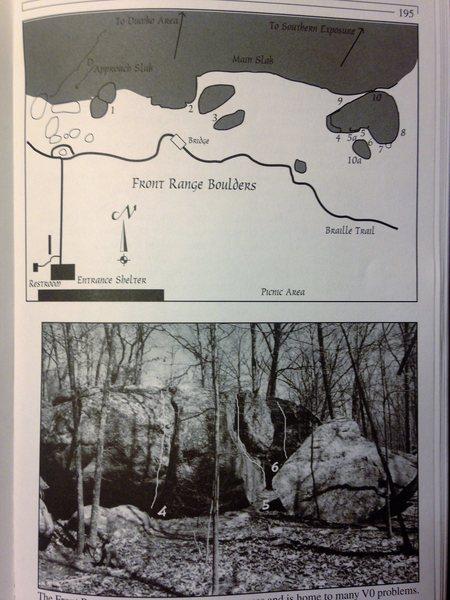 Rock Climbing Photo: Front Range bouldering map