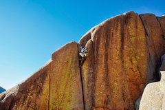 Rock Climbing Photo: Preston Pettigrew making his way up the Eliminator...