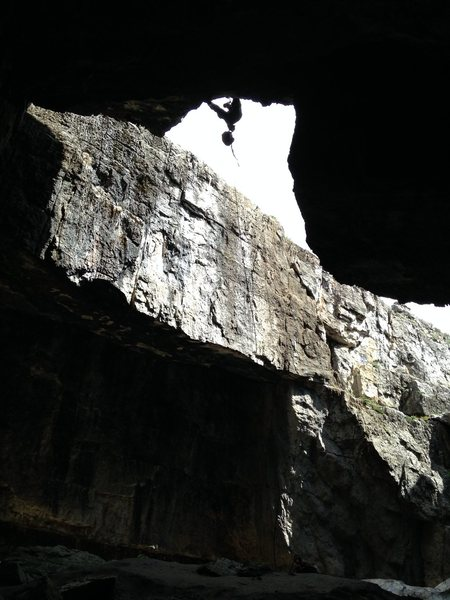 Rock Climbing Photo: Boy Scout reppeling. Help give a general idea of w...