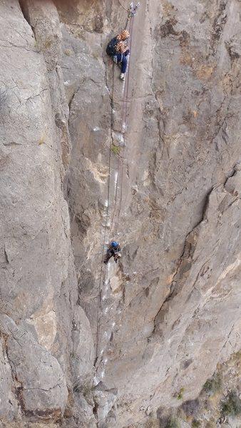 Rock Climbing Photo: Omar Rodriguez y Victo Hugo en La Traicion de Khal...