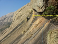 Rock Climbing Photo: Samiran leading Pitch 2