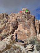 Rock Climbing Photo: Pop See Ko (5.8) on left Hoo Doo (5.7) on right