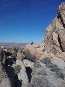 Rock Climbing Photo: Emily looking at flight 370