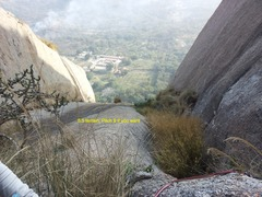 Rock Climbing Photo: The tuft of grass in the middle of the picture mar...