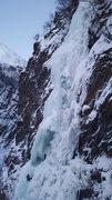 Rock Climbing Photo: Julie rapelling hung jury