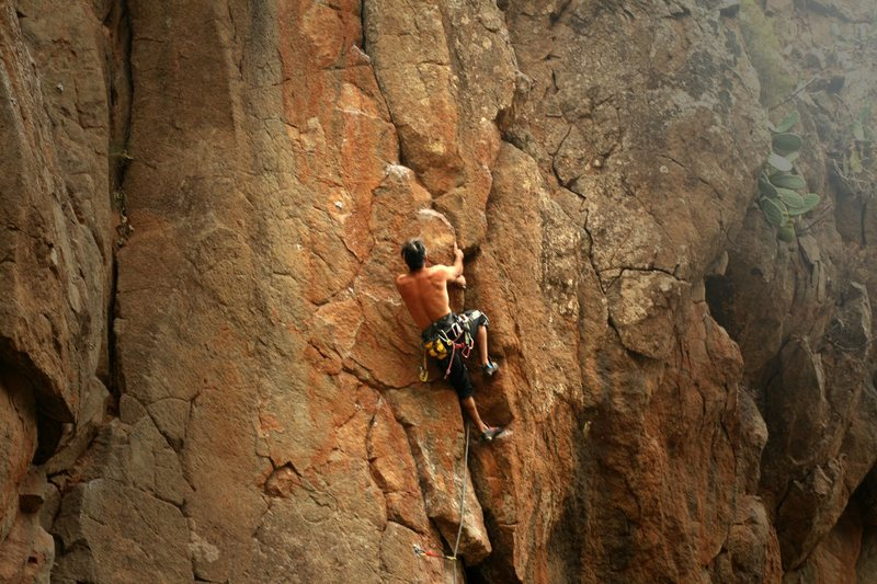Rock Climbing Photo: Before the last crux