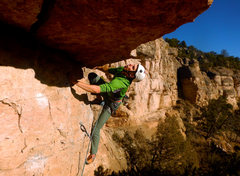 Rock Climbing Photo: The roof. Don't let the pump get to you!