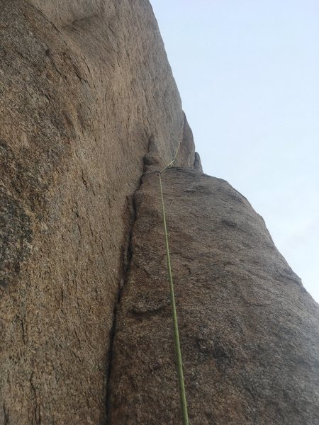 Rock Climbing Photo: Starting dihedral of Rossetti Rose