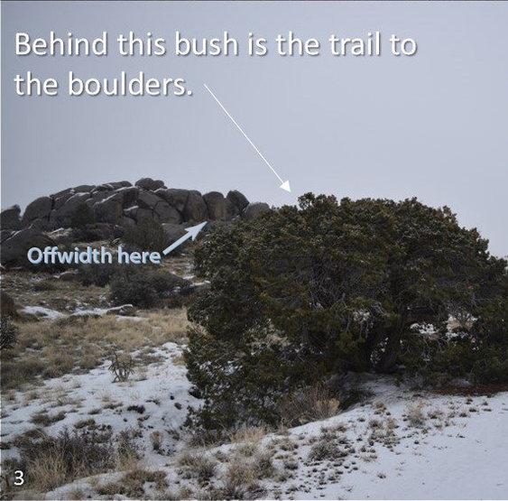 Off-width location