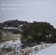 Rock Climbing Photo: Off-width location