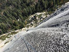 Rock Climbing Photo: Friction finish at top of P4
