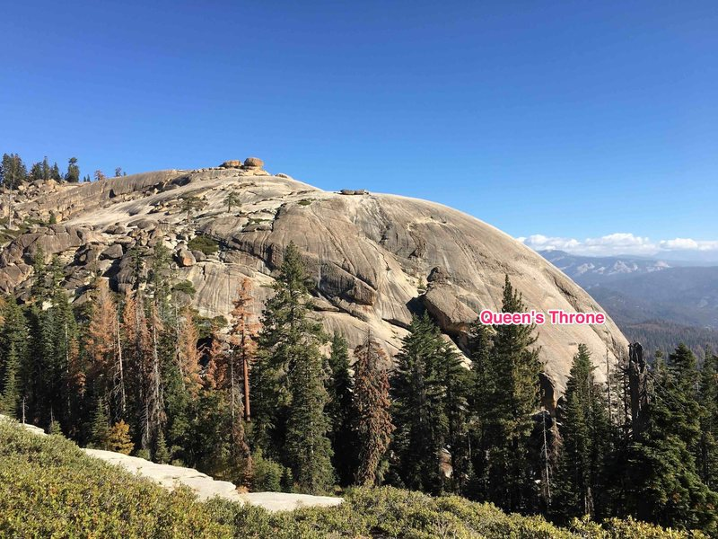 Queen&@POUND@39@SEMICOLON@s Throne from top of main trail