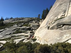 Rock Climbing Photo: Descend this slope to get to the bottom of queen&#...