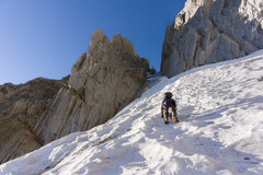 Rock Climbing Photo: Cameron climbing the perfect neve approaching the ...