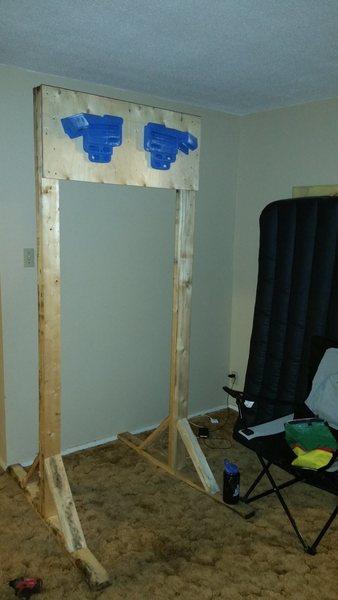 Freestanding hangboard set-up