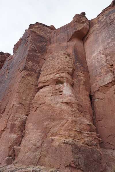 Rock Climbing Photo: A common anchor between the two routes. It seems o...