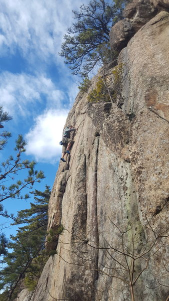 Rock Climbing Photo: A view of most of Heros and Handlebars. Stepping o...