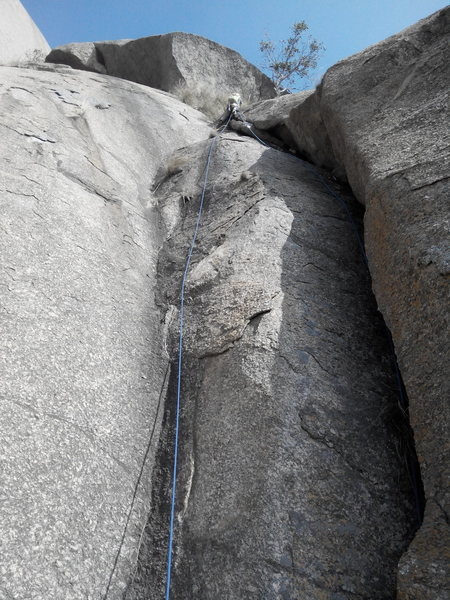 This is probably the only pitch whose full length can be seen by the belayer.