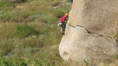 Rock Climbing Photo: crack to arete