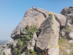 Rock Climbing Photo: Location of the arete, next to Chota Bheem