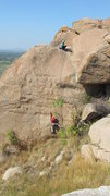 Rock Climbing Photo: Bheeman Mukha 1? Face climb, right of the arete. W...