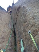 Rock Climbing Photo: My first time shuffling pro on my way up...