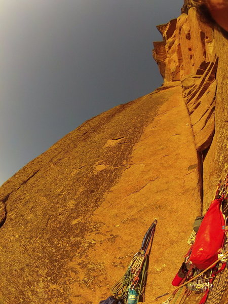 Looking up at pitch 6