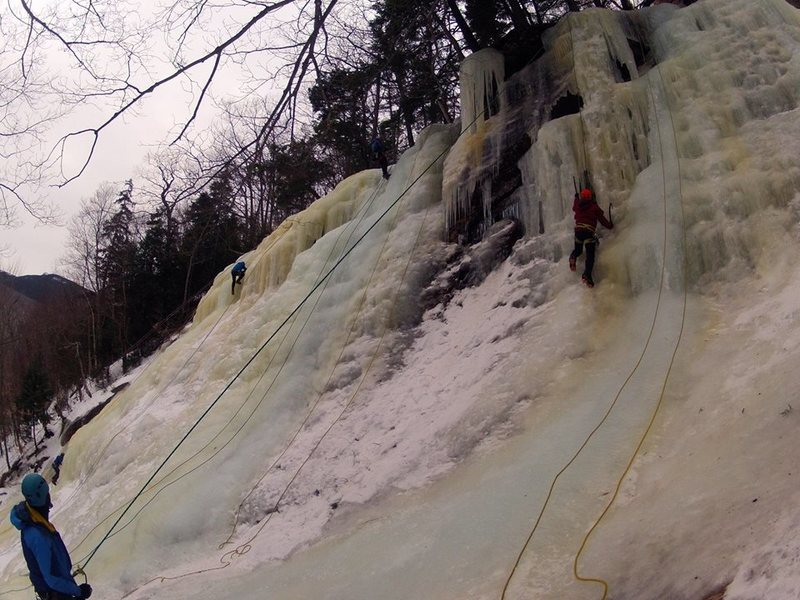 AMC Ice Program getting some laps at Lost in the Forest