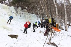 Rock Climbing Photo: AMC Ice Program at Lost in the Forest