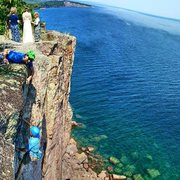 Rock Climbing Photo: Palisade head and Shovel Point in the distance