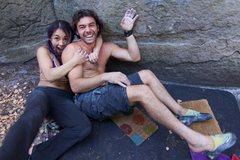Rock Climbing Photo: Me & Yunna !!! Under a Block!