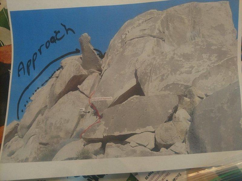 Rock Climbing Photo: Praying monkey 3rd class approach