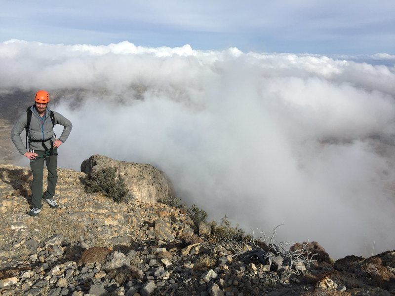 Henri above cloud-line after the technical section.