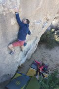 Rock Climbing Photo: Pulling (if you can call it that) through the crux...