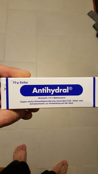 Unopened box of antihydral cream