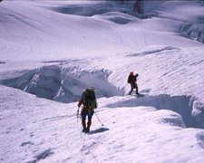 Rock Climbing Photo: crossing the Robson Glacier 92.