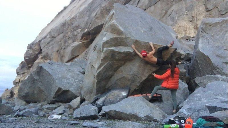 Rock Climbing Photo: Trending left on the lip.