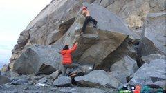 Rock Climbing Photo: Topout.