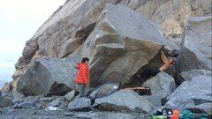 Rock Climbing Photo: Start position.