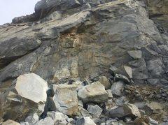 View of boulders below slab city.