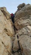 Rock Climbing Photo: Kyle starts up Pitch 1