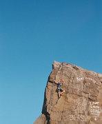 Rock Climbing Photo: A drone shot taken by Seth Holme towards the top o...