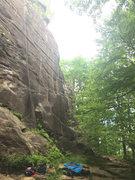 Rock Climbing Photo: The base of Thin Line
