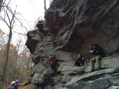 Rock Climbing Photo: One of the bolted routes being top roped and some ...