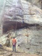 "Rock Climbing Photo: Pulling ""the move"""