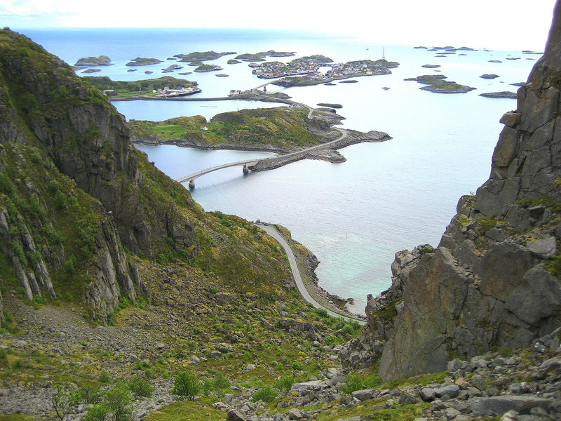 Rock Climbing Photo: Henningsvær, the center of climbing in the Lofote...