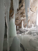 Rock Climbing Photo: Lots of ice here, I think the West side of Grand I...